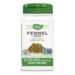 Nature's Way Fennel / Див копър 480 мг. 100 вегетариански капсули