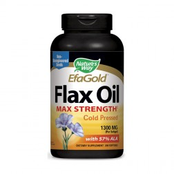 Nature's Way Flax Oil / Ленено масло 1300 мг. 200 софтгел капсули