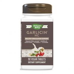 Nature's Way Garlicin Circulation HC / Гарлицин Кръвообращение HС 400 мг. 90 вегетариански таблетки