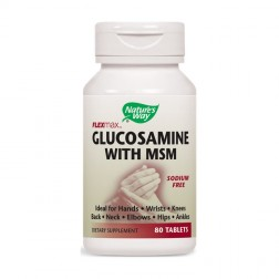 Nature's Way Glucosamine with MSM / Глюкозамин и MСM 875 мг. 80 таблетки