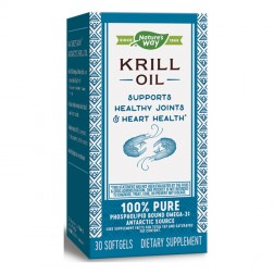 Nature's Way Krill Oil / Крил масло 500 мг. 30 софтгел капсули