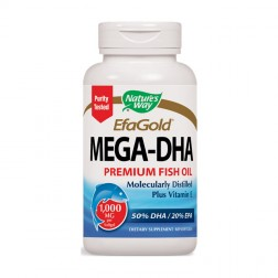 Nature's Way MEGA-DHA / Мега-ДХК 1000 мг. 60 софтгел капсули