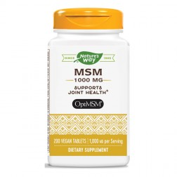 Nature's Way MSM / Метилсулфонилметан (МСМ) 1000 мг. 200 вегетариански таблетки