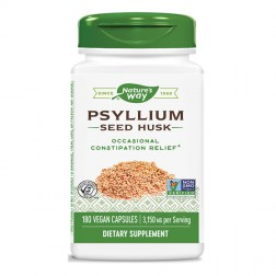 Nature's Way Psyllium / Псилиум Хуск / Живовляк (люспи) 525 мг. 180 вегетариански капсули