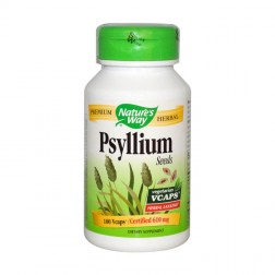 Nature's Way Psyllium / Живовляк/Псилиум (семена) 610 мг. 100 вегетариански капсули