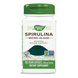 Nature's Way Spirulina Micro-Algae / Спирулина микроводорасли 380 мг. 100 вегетариански капсули