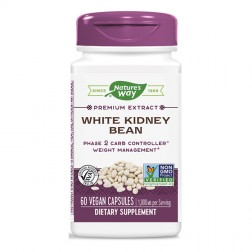 Nature's Way White Kidney Bean/ Зърна от бял боб 1000 мг. 60 вегетариански капсули