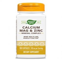Nature's Way Calcium Mag & Zinc / Калций, магнезий и цинк 255 мг. 100 капсули