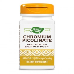Nature's Way Chromium Picolinate / Хром 200 мкг. 60 капсули