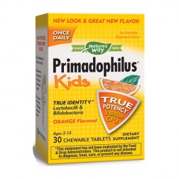 Nature's Way Primadophilus® Kids / Примадофилус Кидс 28 мг. 30 дъвчащи таблетки