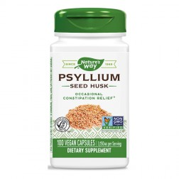 Nature's Way Psyllium Husks / Псилиум Хуск/Живовляк (люспи) 525 мг. 100 вегетариански капсули
