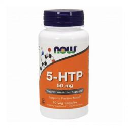 NOW Foods 5-HTP / 5-хидрокситриптофан 50 мг. 90 капсули