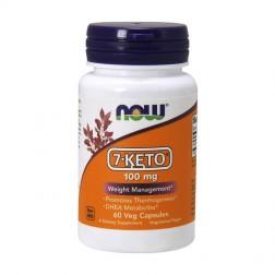 NOW Foods 7-KETO 100 мг. 60 вегетариански капсули