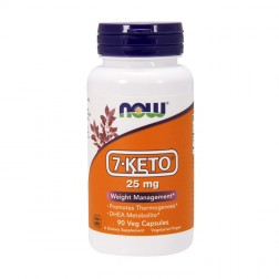 NOW Foods 7-KETO 25 мг. 90 вегетариански капсули