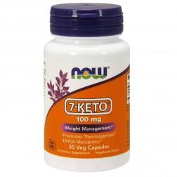 NOW Foods 7-KETO 100 мг. 30 вегетариански капсули