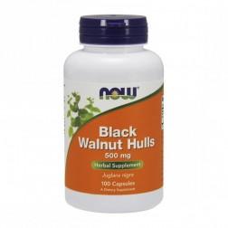 NOW Foods Black Wallnut Hulls / Люспи от черен орех 500 мг. 100 капсули
