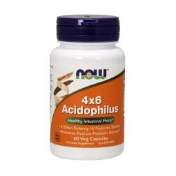 NOW Foods Acidophilus 4x6 60 капсули