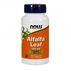 NOW Foods Alfalfa Leaf / Органична люцерна 500 мг. 100 капсули