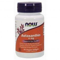 NOW Foods Astaxanthin / Астаксантин 4 мг. 60 вегетариански дражета