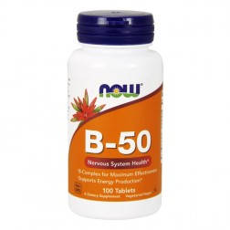 NOW Foods B-50 / Витамини В комплекс 100 таблетки (100 дози)