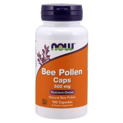NOW Foods Bee Pollen / Пчелен прашец 500 мг. 100 капсули