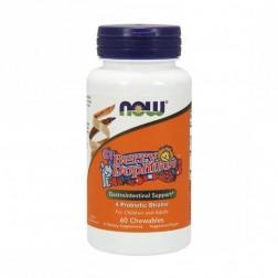 NOW Foods BerryDophilus / Пробиотици за деца 60 дъвчащи дражета