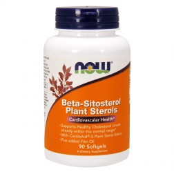 NOW Foods Beta-Sitosterol Plant Sterols / Бета-Ситостерол и растителни стероли 1400 мг. 90 софтгел капсули