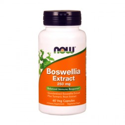 NOW Foods Boswellia Extract / Стандартизиран екстракт от босвелия с добавена куркума 250 мг. 60 вегетариански капсули