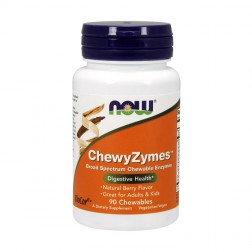 NOW Foods Chewyzymes 90 дъвчащи дражета