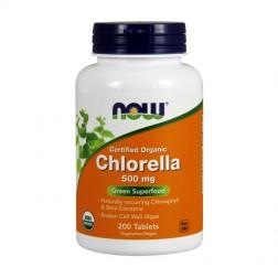 NOW Foods Chlorella / Натурални водорасли Хлорела 500 мг. 200 таблетки