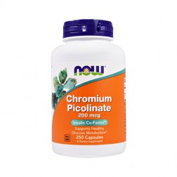 NOW Foods Chromium Picolinate / Хром пиколинат 200 мкг. 250 капсули