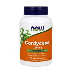 NOW Foods Cordyceps / Кордицепс 750 мг. 90 вегетариански капсули