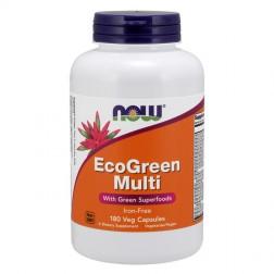 NOW Foods Eco Green Multi 180 вегетариански капсули