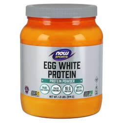 NOW Foods Eggwhite Protein / Неовкусен натурален яйчен протеин 544 гр.