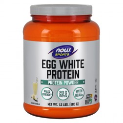 NOW Foods Eggwhite Protein / Овкусен натурален яйчен протеин 680 гр.