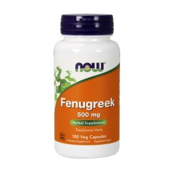 NOW Foods Fenugreek / Сминдух 500 мг. 100 капсули