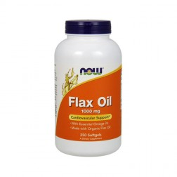 NOW Foods Flax Oil Organic / Органично ленено масло 1000 мг. 250 дражета