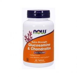 NOW Foods Glucosamine & Chondroitin / Глюкозамин и хондроитин 750/600 мг. 60 таблетки