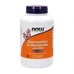 NOW Foods Glucosamine/Chondroitin/MSM / Глюкозамин, хондроитин и метилсулфонилметан 180 капсули