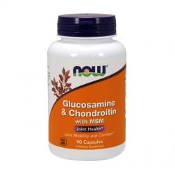 NOW Foods Glucosamine/Chondroitin/MSM / Глюкозамин, хондроитин и метилсулфонилметан 90 капсули