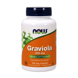 NOW Foods Graviola / Гравиола, Анона ябълка 500 мг. 100 капсули