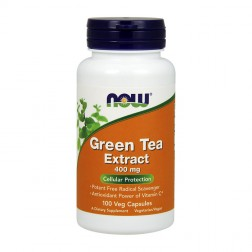 NOW Foods Green Tea Extract / Зелен чай 400 мг. 60% полифеноли 100 капсули