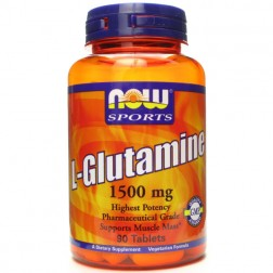 NOW Foods L-Glutamine / Глутамин 1500 мг. 90 таблетки