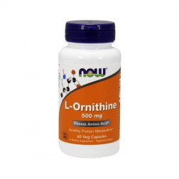 NOW Foods L-Ornithine 500 мг. 60 капсули