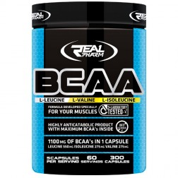 Real Pharm BCAA 300 капсули (75 дози)