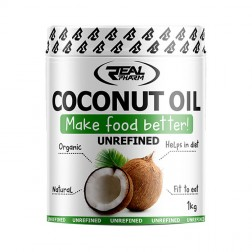 Real Pharm Coconut Oil Unrefined / Кокосово масло (нерафинирано) 1000 мл. (100 дози)