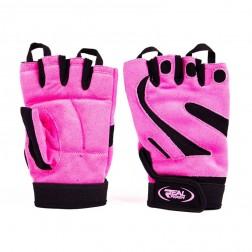 Дамски фитнес ръкавици Real Pharm Lady Pink