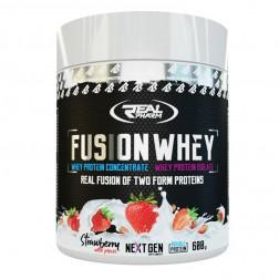 Real Pharm Fusion Whey 600 g / 50-50 Суроватъчен протеин концентрат + изолат 600 гр.