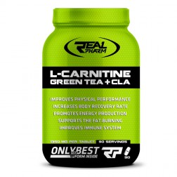 Real Pharm L-Carnitine, Green Tea & CLA 90 таблетки (90 дози)