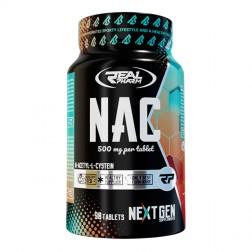 Real Pharm NAC / N-ацетил L-цистеин 500 мг. 90 таблетки (90 дози)